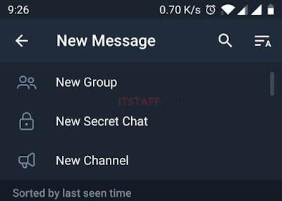New Message Telegram - ITSTAFF.web.id
