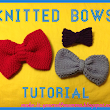 Knitted Bows Tutorial - Free Patterns