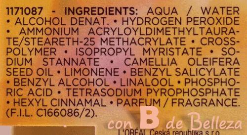 Ingredientes Casting sunkiss