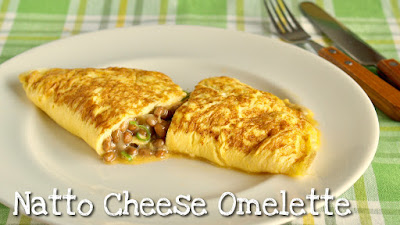 Natto Cheese Omelette (High Protein Keto Diet Recipe)