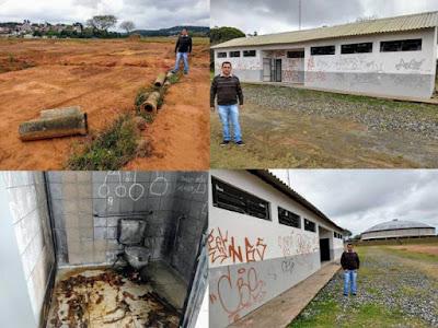 Vereador Vander Lopes denuncia inutilidade e degradação do Ginásio Mário Covas