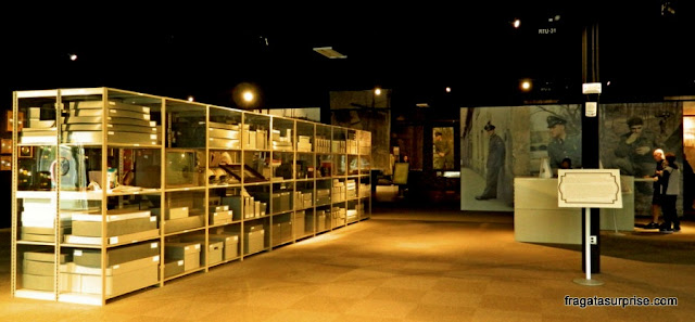 Arquivo de documentos sobre Elvis Presley conservados no museu de Graceland