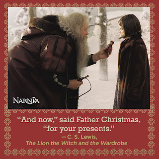 Father Christmas and Lucy - The Lion, the Witch and the Wardrobe