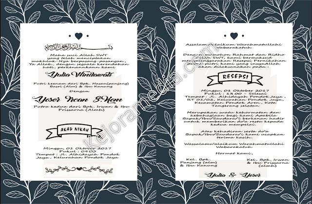 undangan pernikahan simple dan murah