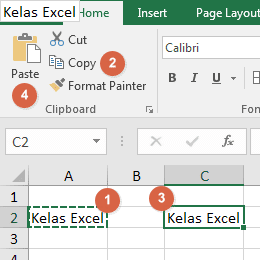 Cara Copy Paste di Excel