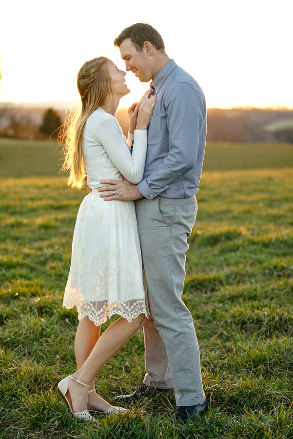 Couple in love, field photography, sunset photography