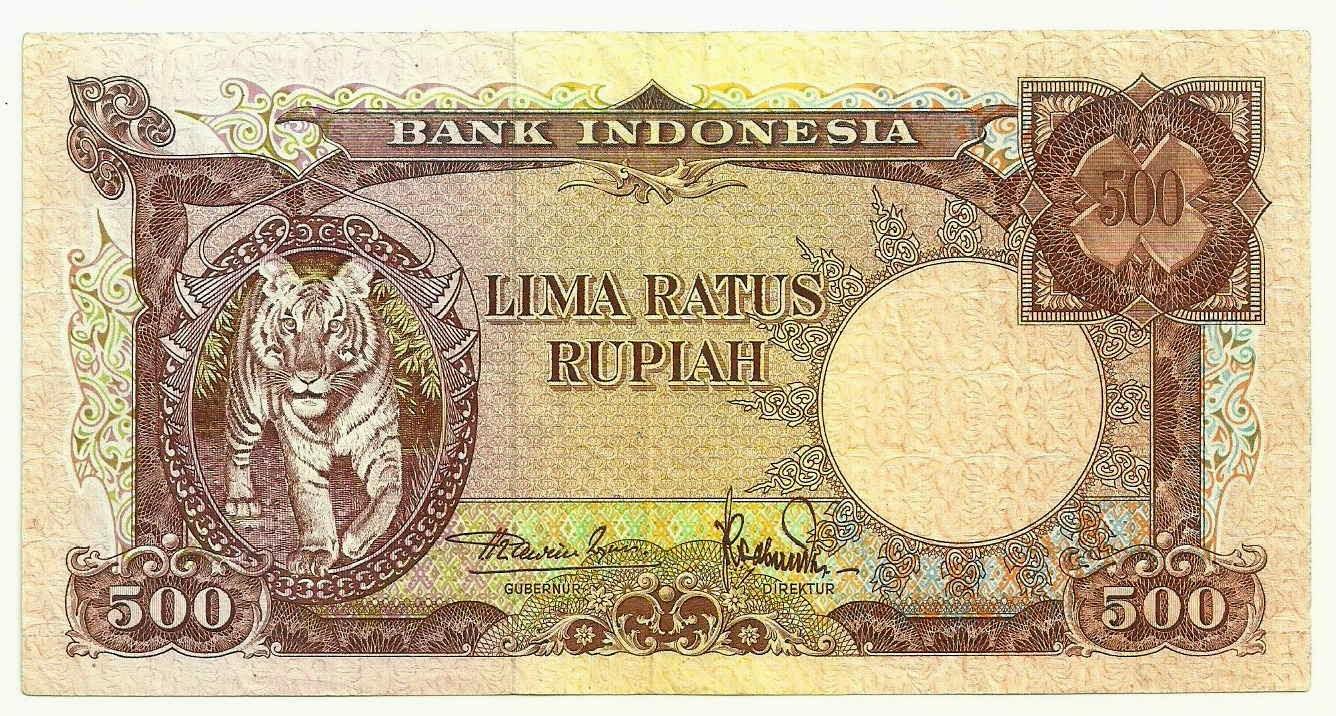 uang kuno Seri Hewan tahun 1957 pecahan 500 rupiah