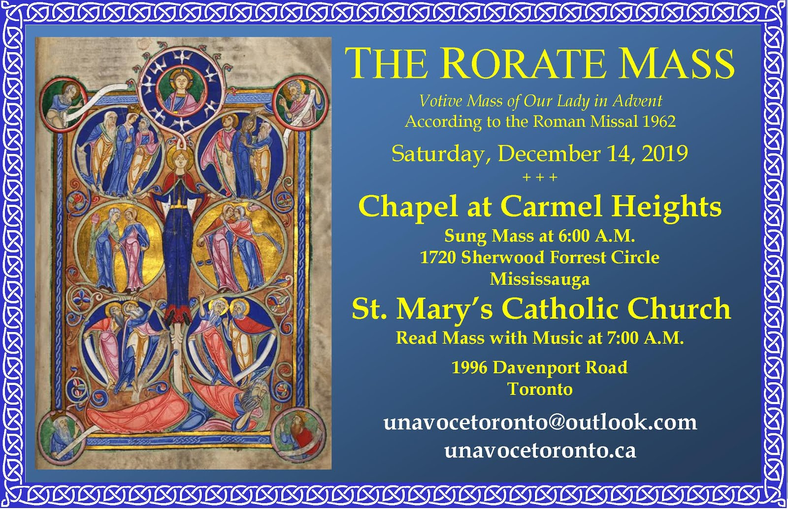 Rorate Mass in Toronto
