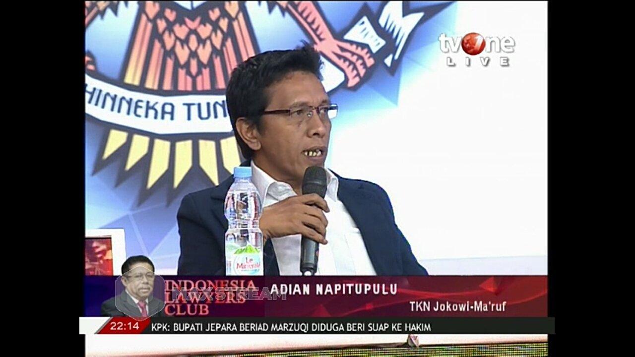Adian di ILC: Jokowi Tak Mungkin Dikalahkan 212