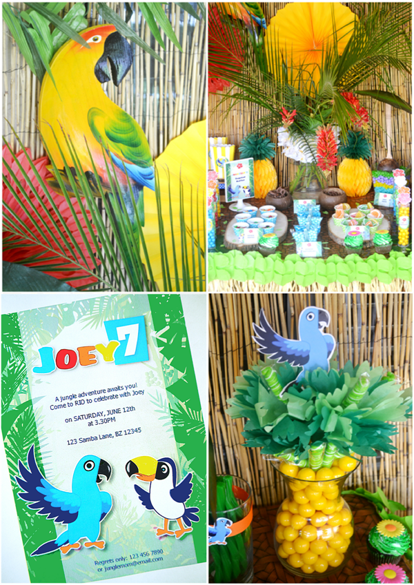 Rio 2 movie inspired birthday party party ideas party for Decoration 40 ans homme
