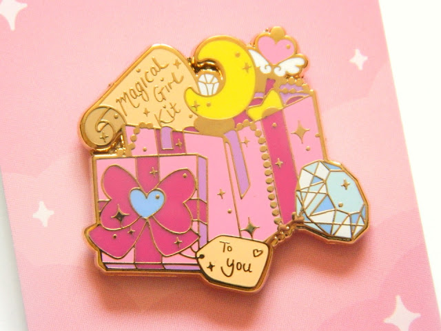 Magical Girl Kit enamel pin, from monthly pin subscription