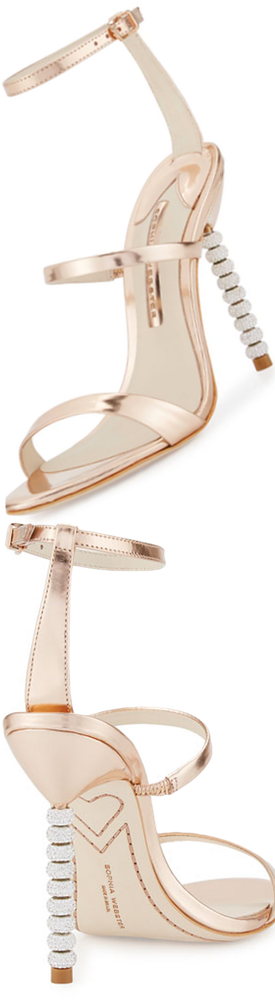Sophia Webster Rosalind Crystal-Heel Leather Sandal.