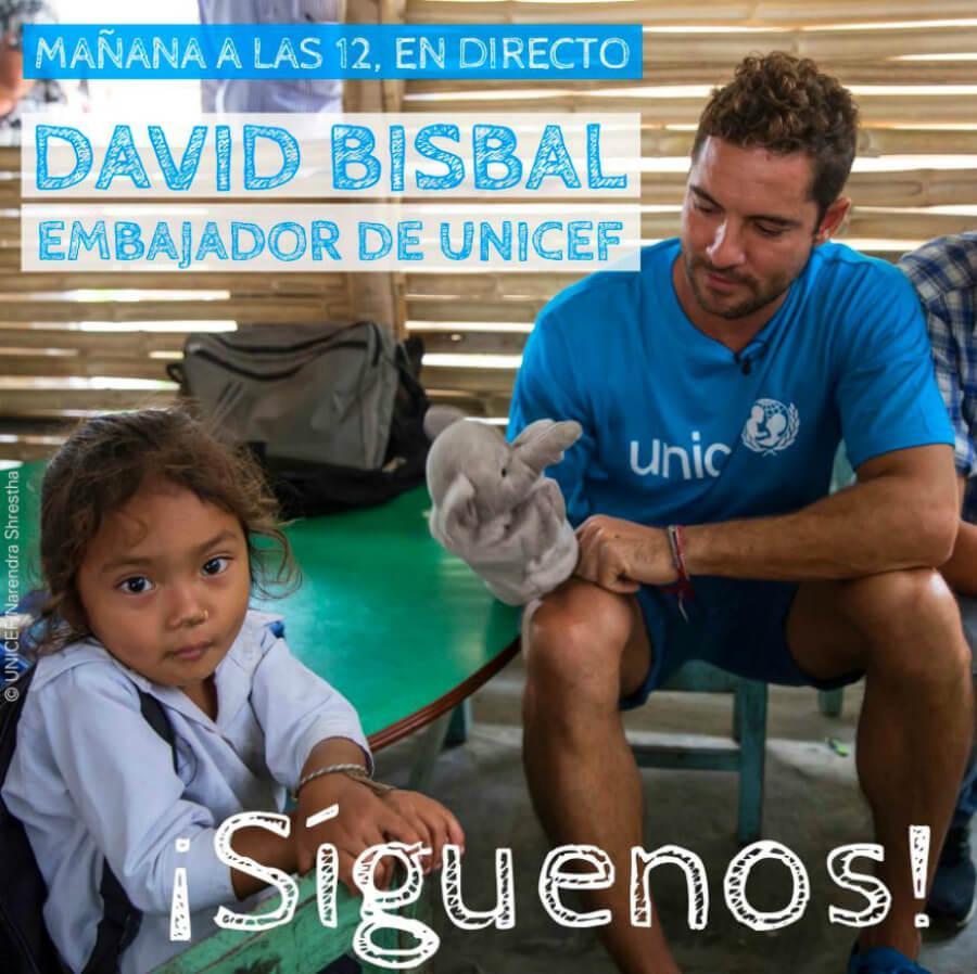David Bisbal, embajador de UNICEF