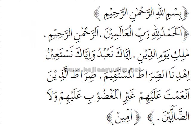 Doa tahlil membaca surat al-fatihah