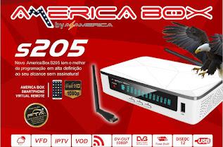 AMERICA BOX S205 NOVA ATUALIZAÇÃO V2.22 - 27/07/2018
