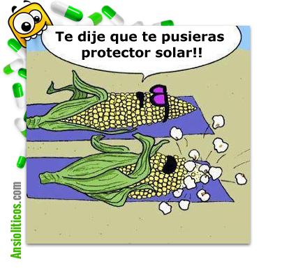 Chiste de Mazorcas de Maíz: Protector Solar