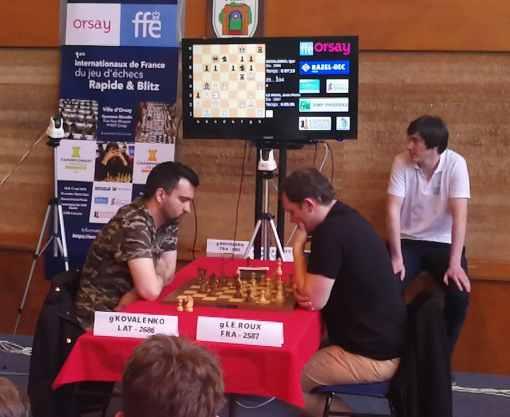 La finale du rapide des internationaux de France d'échecs entre Igor Kovalenko et Jean-Pierre Le Roux