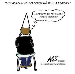 italicum, consulta, copioni, vignetta, satira