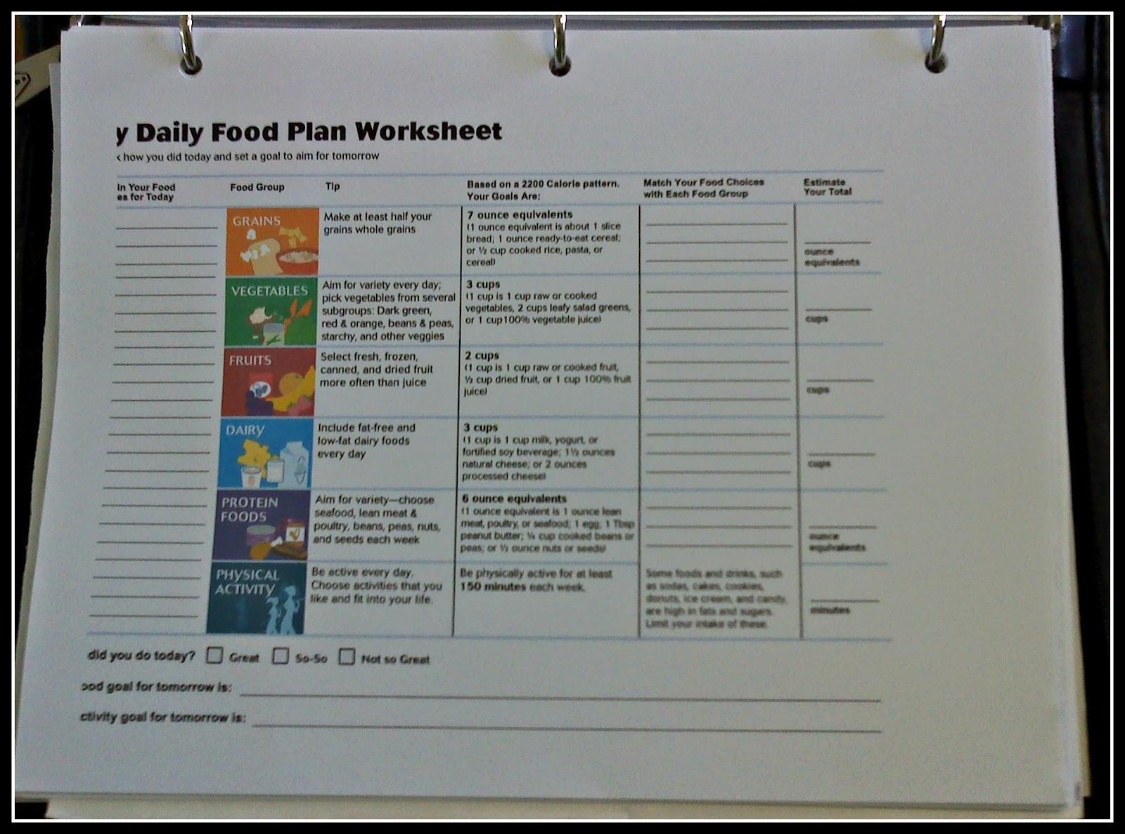 Worksheet My Daily Food Plan Worksheet Grass Fedjp