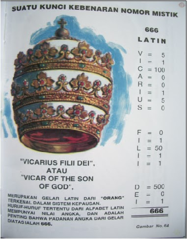 Hasil gambar untuk vicarius filii dei sarapanpagi