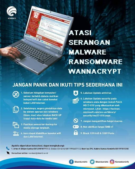 atasi malware wannacry
