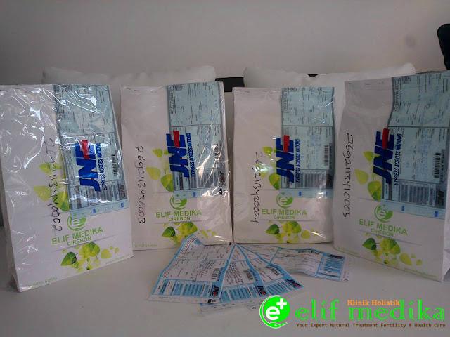 Pengiriman paket nutrisi dan herbal klinik holistik elif medika