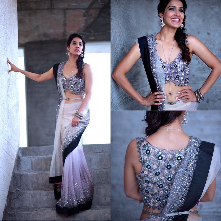 Modern Indian Bride Hairstyle: Indian Outfit Designs: Designer Sarees