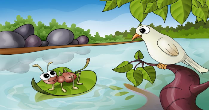 Stories for Kids - The Dove and an Ant
