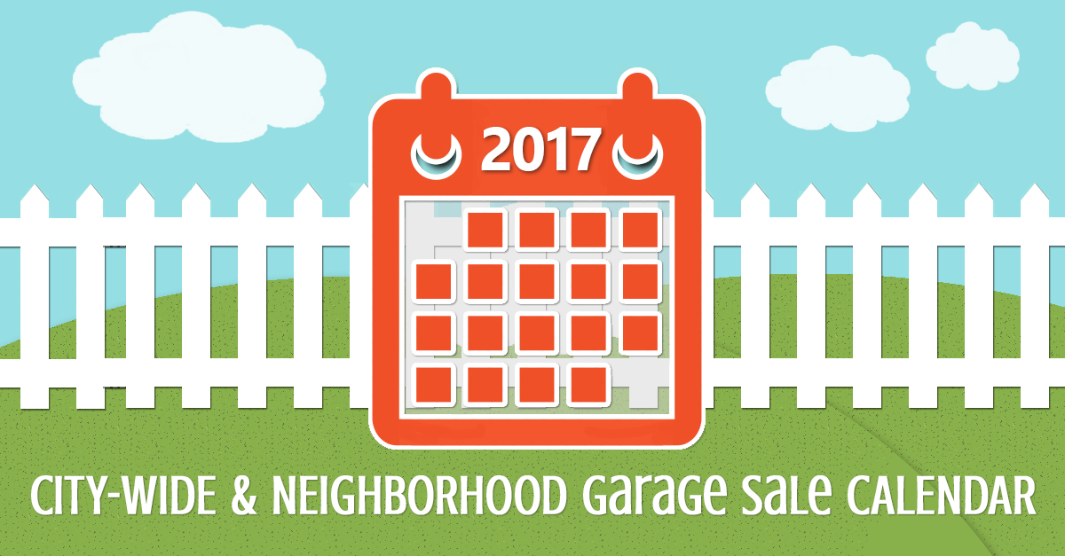 City-Wide & Neighborhood Garage Sales Calendar