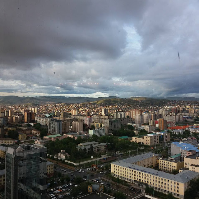 Panoramic view of Ulaanbaatar