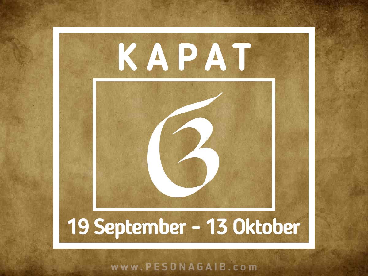 Ramalan Mangsa Kapat (19 September – 13 Oktober)