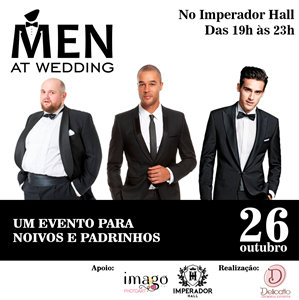 Men at wedding Brasília recebe workshop inédito para noivos