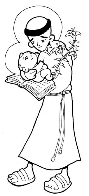 Resultado de imagen de dibujosde san antonio de padua