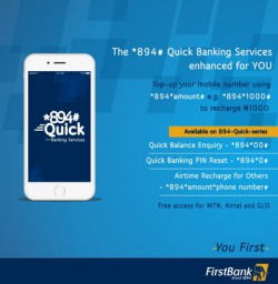 First Bank USSD Code And Function In Nigeria