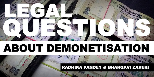 THINK TANK | Legal Questions about Demonetisation
