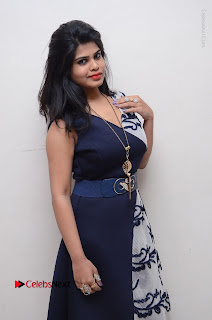 Telugu Actress Alekhya Stills in Blue Long Dress at Plus One ( 1) Audio Launch  0089.jpg