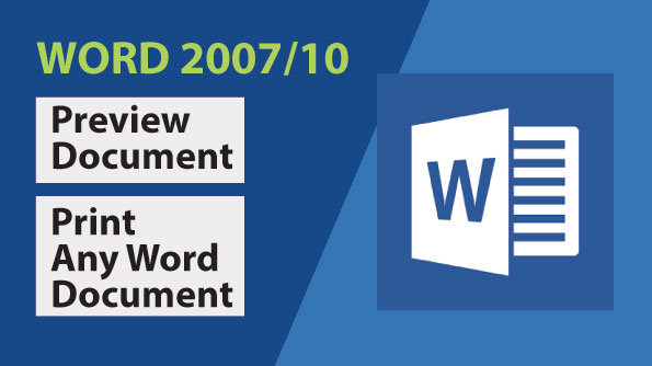 Image for Preview And Print Any Word Document In Word 2007_2010