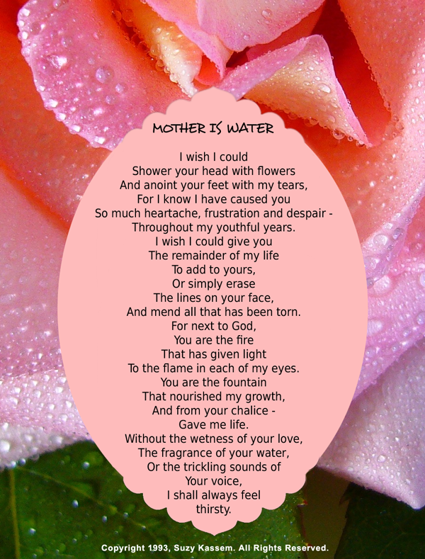 Mother Poem Mother Poetry Suzy Kassem