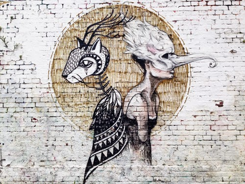 Street-Art Berlin Mitte East Side Gallery Mediaspree Verrecke altes Yaam Katze Frau Maske Graffiti
