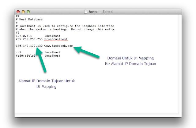 Edit File Hosts Mac Mapping Ke Domain Yang Di Inginkan
