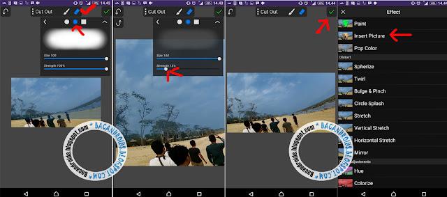 Cara Edit Foto manipulasi Membuat Efek Ikan Paus dan Gajah di langit