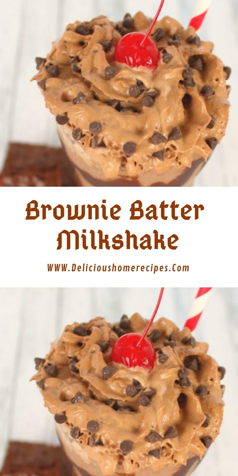 Brownie Batter Milkshake #christmas #dessert