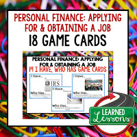 Personal Finance, Job Hunting, Free Enterprise, Economics, Free Enterprise Lesson, Economics Lesson, Free Enterprise Games, Economics Games, Free Enterprise Test Prep, Economics Test Prep