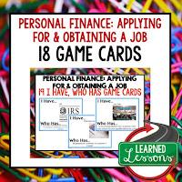 Personal Finance, Job Hunting, Free Enterprise, Economics, Free Enterprise Lesson, Economics Lesson, Free Enterprise Games, Economics Games, Free Enterprise Test Prep, Economics Test Prep