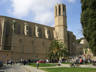Gothic church of Pedralbes monastery in Barcelona