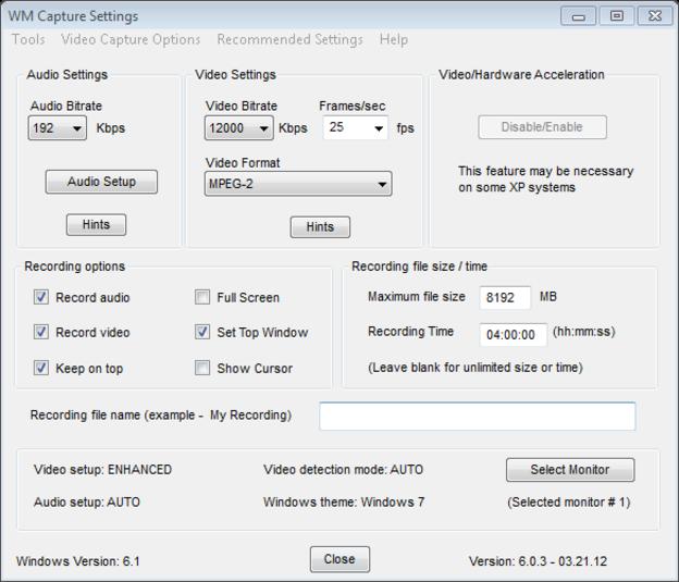 Software Perekam Monitor Komputer WM Capture