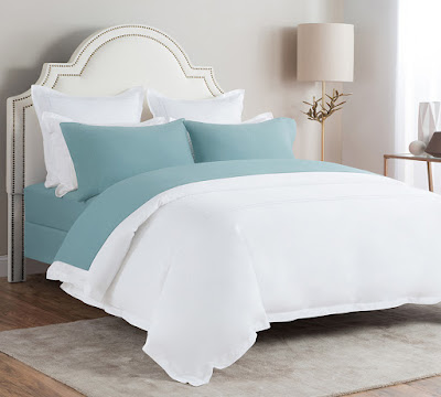 Shop Best Flannel Bed Sheets In Stone Blue Color