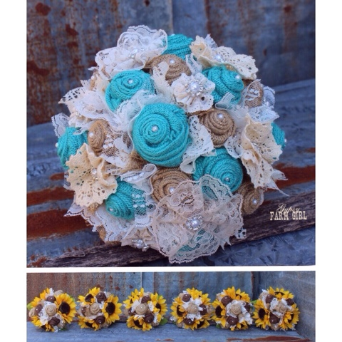 hand made fabric wedding flowers