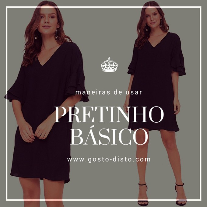 be361b70a Gosto Disto!: Vestido tubinho preto básico maneiras de usar e abusar