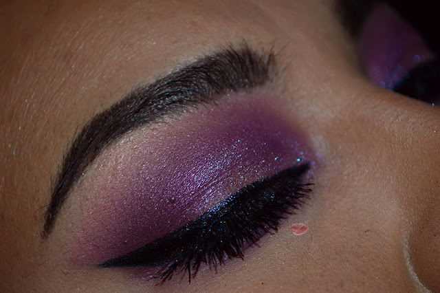 Purple Rain inspired Makeup with Desert Dusk by Huda  Beauty